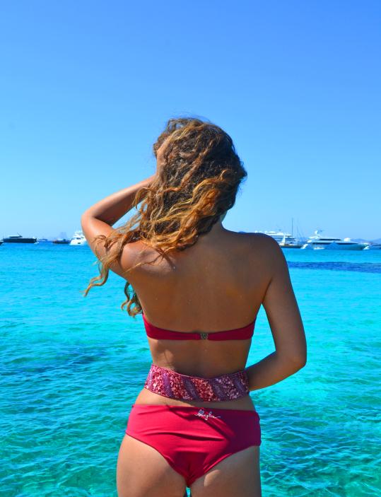 follow me in formentera bikini blueglue v bone cala de la muerte