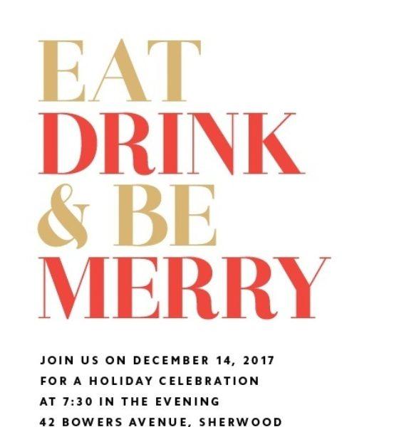 I biglietti di auguri personalizzabili per Natale di Basic Invite