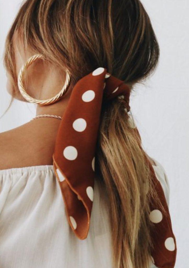 foulard pois polka dots