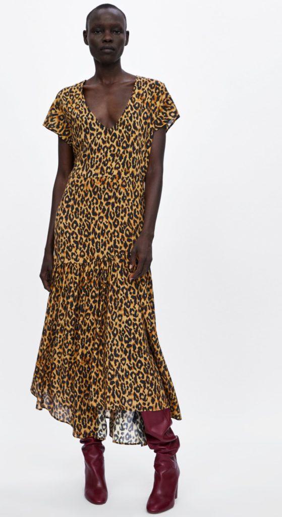 abito zara leopardato