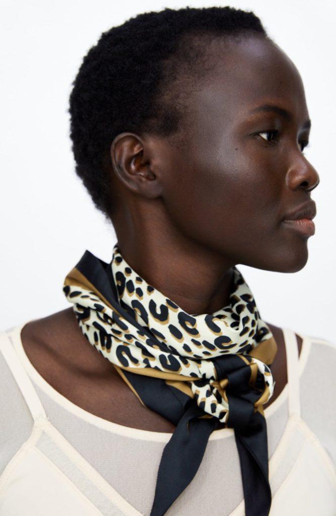 foulard stampa animalier