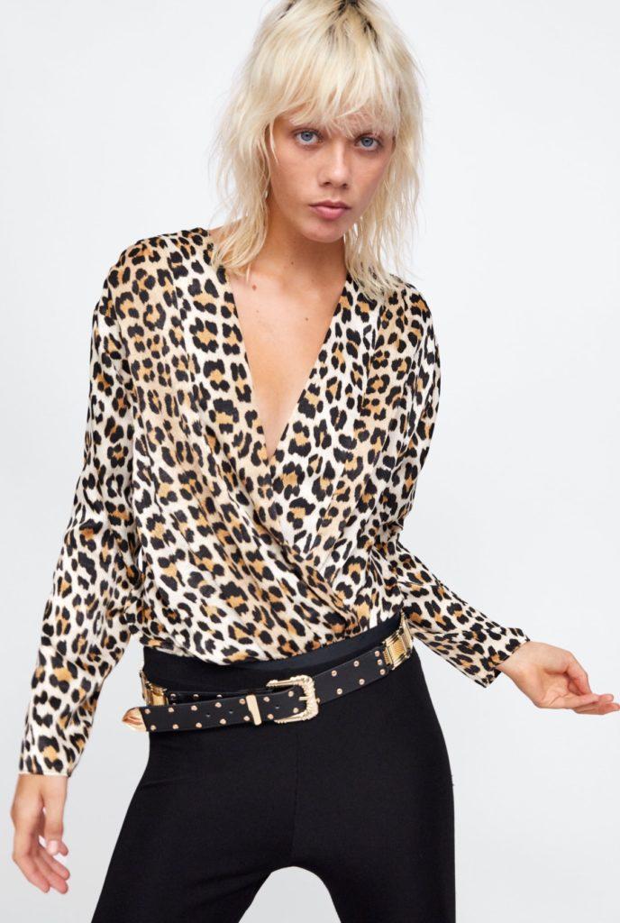 camicia body animalier