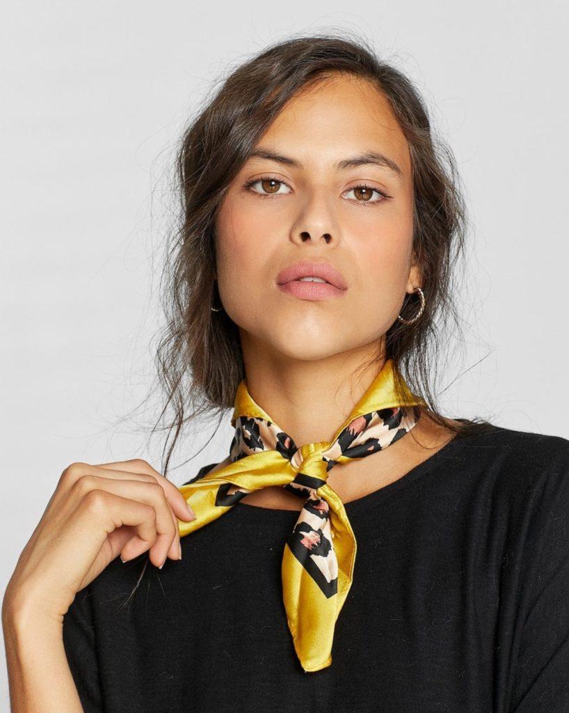 foulard leopardato