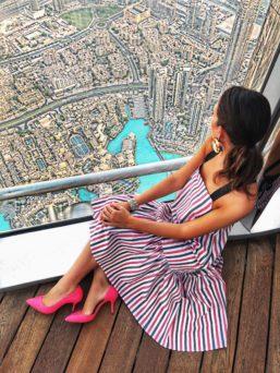 burj khalifa panorama skyline