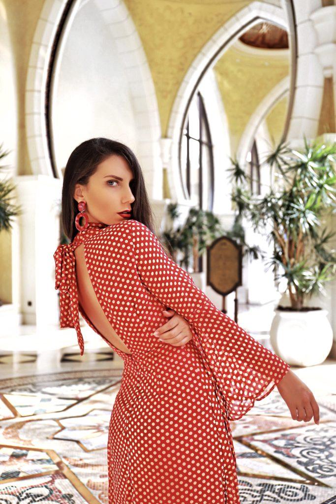 fashion polka dots dress