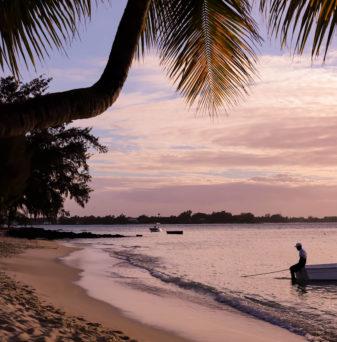 tramonto isola di mauritius