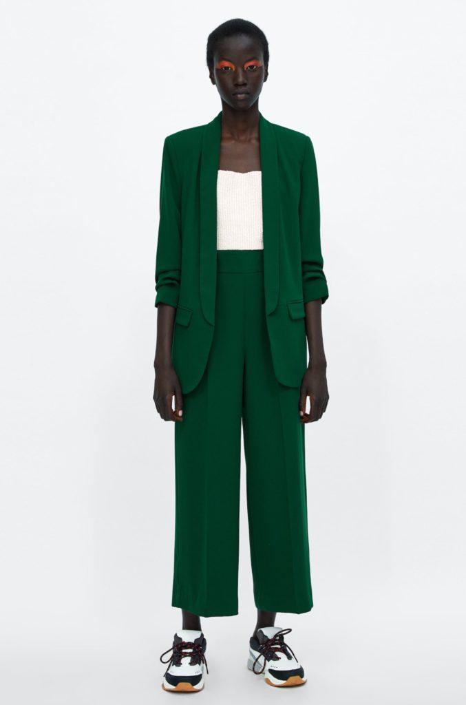 blazer pantalone verde