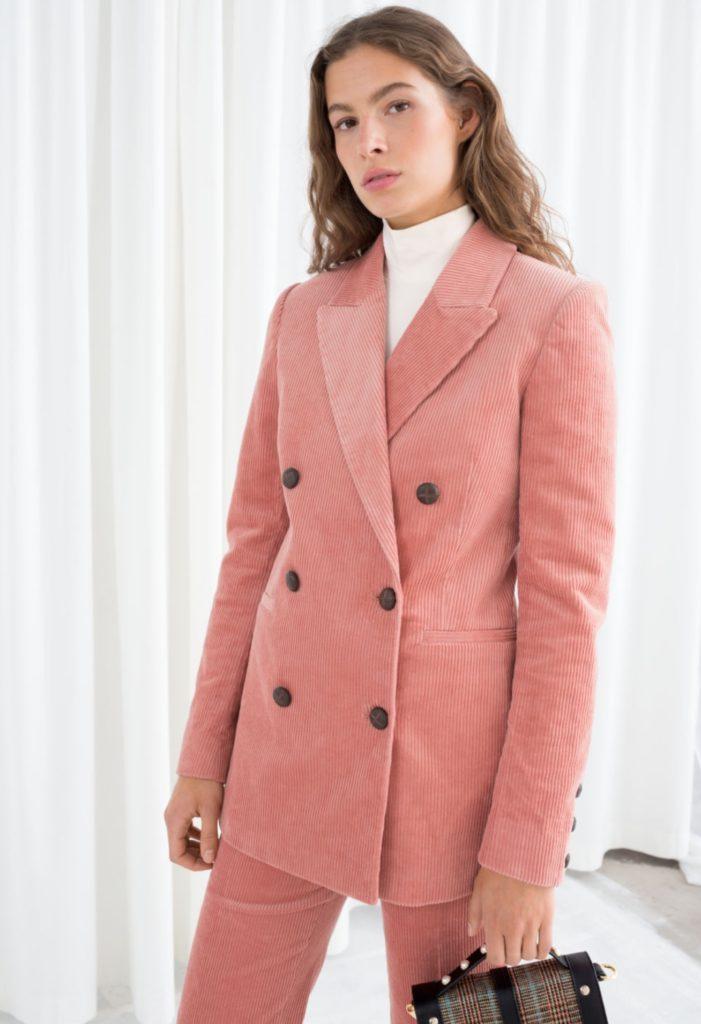 giacca a coste di velluto