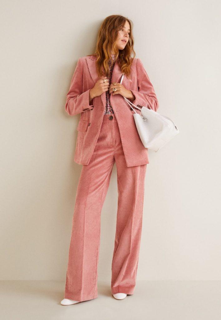 giacca pantalone velluto mango