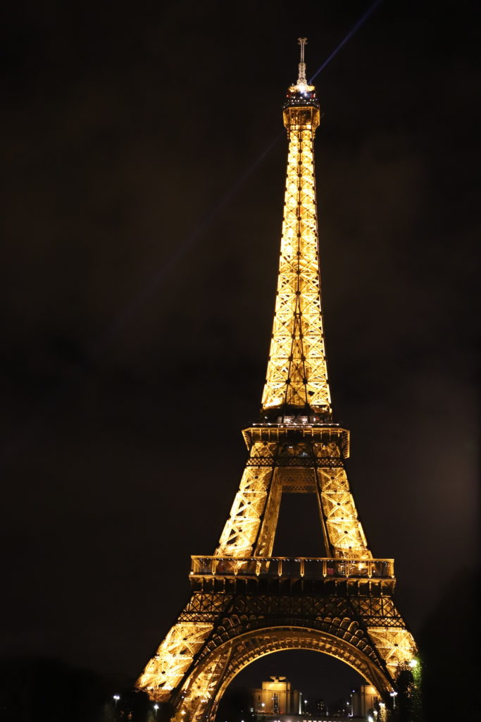 torre eiffel illuminata